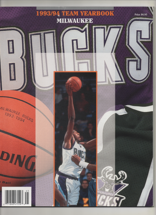 "1993-94 Milwaukee Bucks Team Yearbook ""Bucks Retire #33"" From The Personal Collection of Kareem Abdul Jabbar"