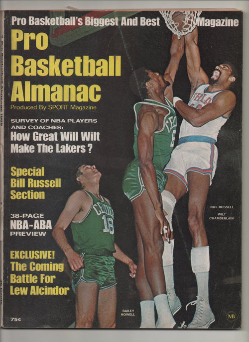 "1969 Pro Basketball Almanac Produced by Sports Magazine ""Exclusive! The Coming Battle for Lew Alcindor"" From The Personal Collection of Kareem Abdul Jabbar"