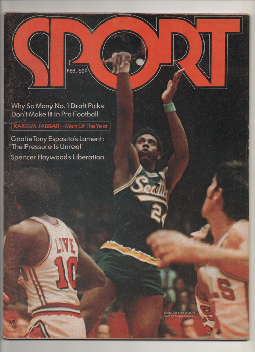 "1972 Sport Magazine ""Kareem Abdul Jabbar-Man Of The Year"" From The Personal Collection of Kareem Abdul Jabbar"