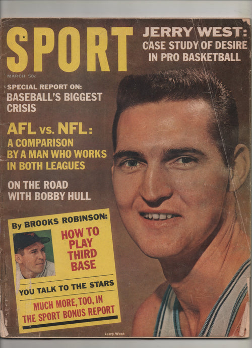 "1965 Sport ""Jerry West: Case Study Of Desire In Pro Basketball"" From The Personal Collection of Kareem Abdul Jabbar"