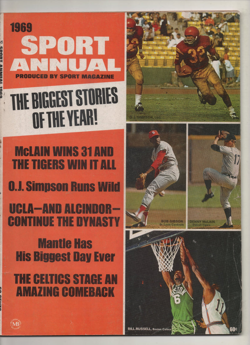 "1969 Sport Annual Produced By Sport Magazine ""UCLA - And Alcindor - Continue Dynasty"" From The Personal Collection of Kareem Abdul Jabbar"