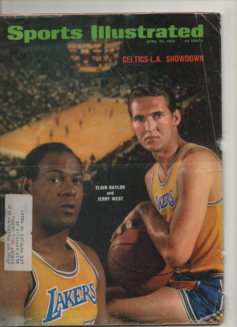 "1968 Sports Illustrated ""Celtics - L.A. Showdown: Elgin Baylor & Jerry West"" From The Personal Collection of Kareem Abdul Jabbar"