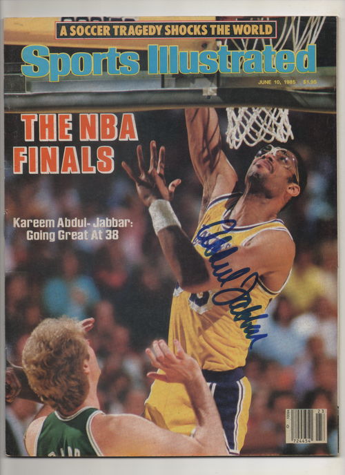 "1985 Sports Illustrated ""The NBA Finals-Kareem Abdul Jabbar: Going Great at 38"" Signed Kareem Abdul Jabbar"