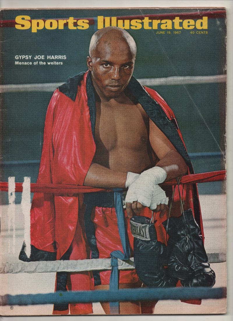 "1967 Sports Illustrated ""Gypsy Joe Harris Menace Of The Welters"" From The Personal Collection of Kareem Abdul Jabbar"