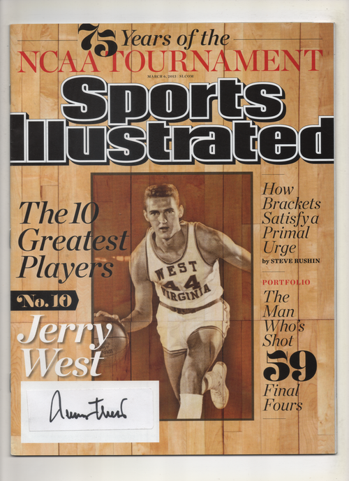 "2013 Sports Illustrated ""The 10 Greatest Players"" Signed by Jerry West"