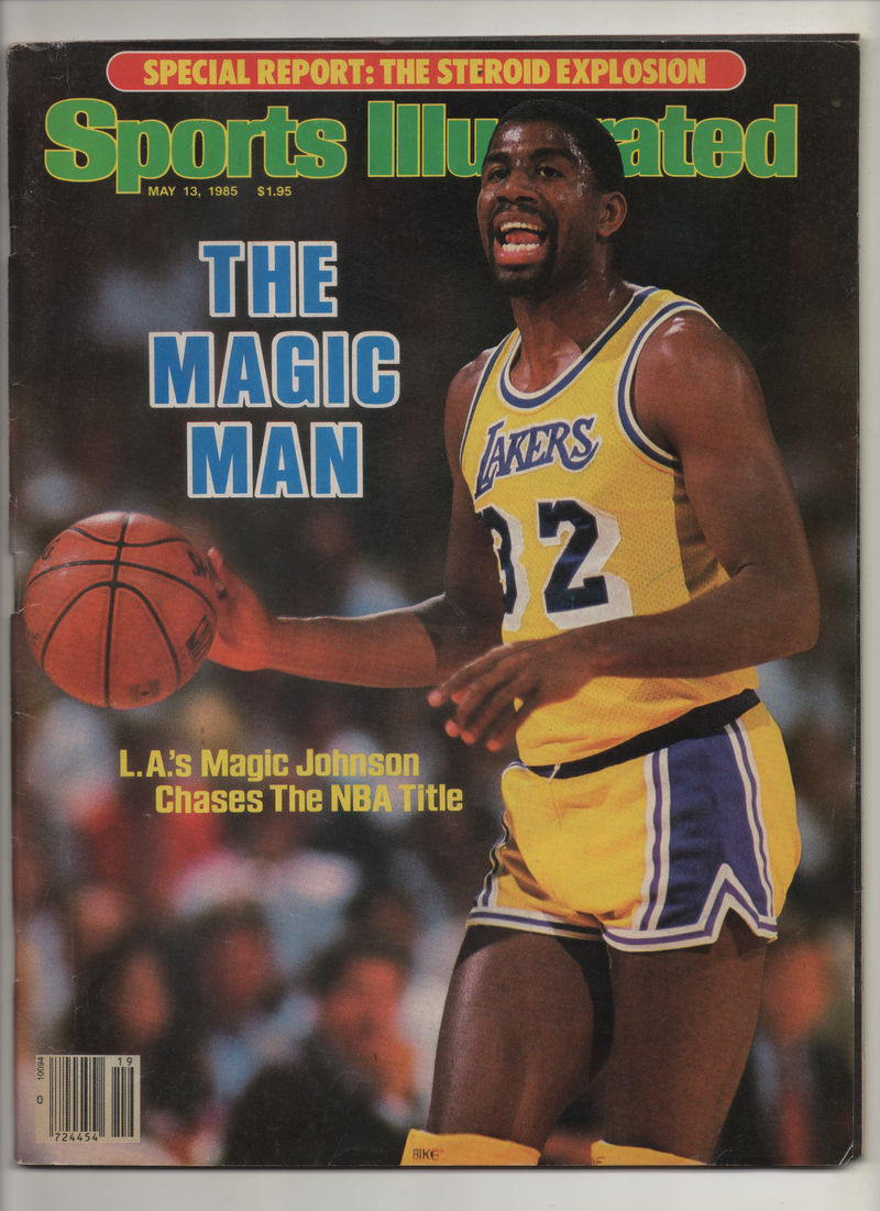 "1985 Sports Illustrated ""The Magic Man-L.A.'S Magic Johnson Chases the NBA Title"" From The Personal Collection of Kareem Abdul Jabbar"