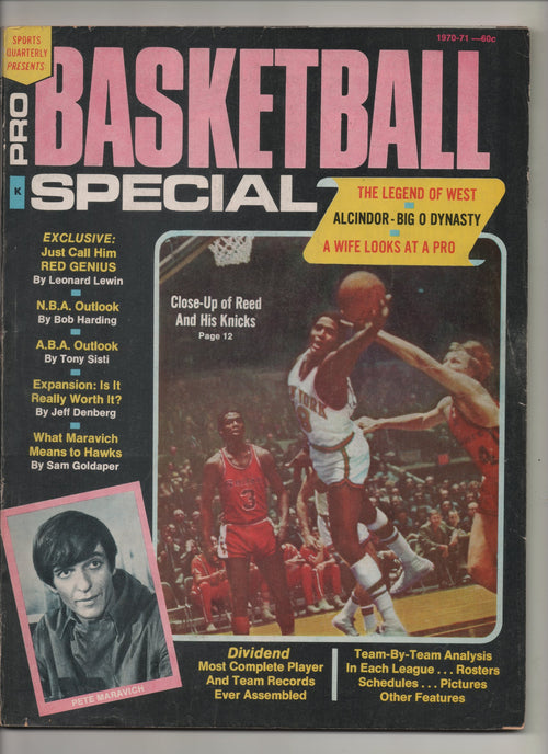 "1970-71 Sports Quarterly Presents: Pro Basketball Special ""Alcindor - Big O Dynasty"" From The Personal Collection of Kareem Abdul Jabbar"