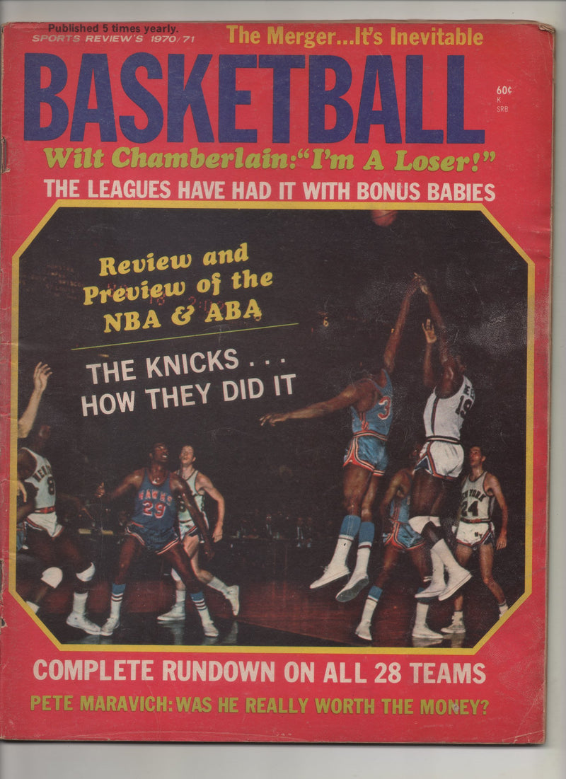 "1970-71 Basketball ""Wilt Chamberlain 'I'm A Loser'"" From The Personal Collection of Kareem Abdul Jabbar"