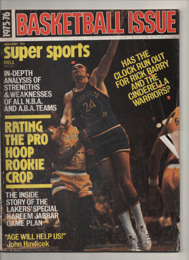 "1975-76 Super Sports - Basketball Issue ""The Insider Story of the Laker's Special Kareem Jabbar Game Plan"""