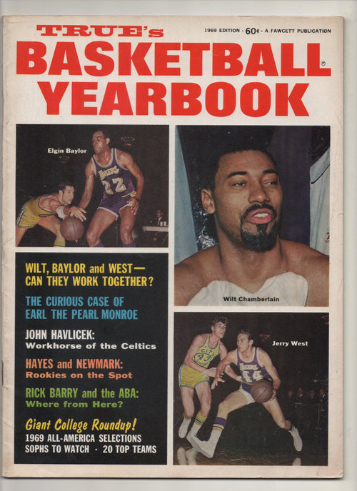 "1969 True's Basketball Yearbook ""Wilt, Baylor and West - Can They Work Together?"" From The Personal Collection of Kareem Abdul Jabbar"