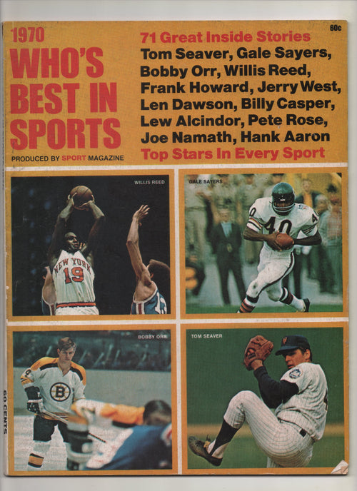 "1970 Who's Best In Sports Produced By Sport Magazine ""71 Great Inside Stories: Lew Alcindor"" From The Personal Collection of Kareem Abdul Jabbar"