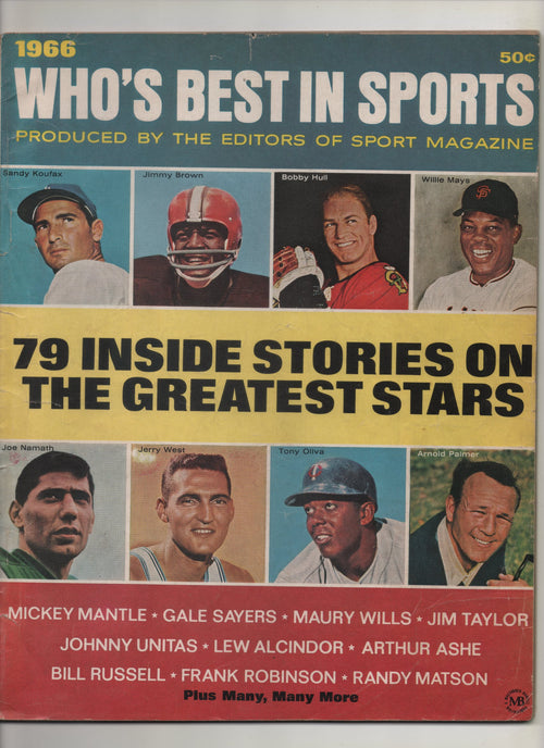 "1966 Who's Best In Sports Produced By Sport Magazine ""79 Inside Stories On The Greatest Stars: Lew Alcindor"" From The Personal Collection of Kareem Abdul Jabbar"