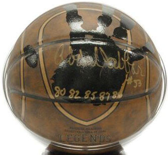 Kareem AbdulJabbar Signed Basketball (Rare) Actual Hand-Print + Inscribed H.O.F. Legends Basketball