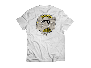 Checkerboard Elephant SHORT SLEEVE (White)