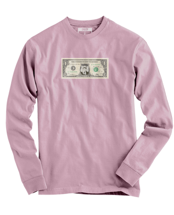 Dollar Bill LONG SLEEVE (Light Pink)