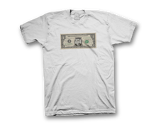 Dollar Bill SHORT SLEEVE (White)