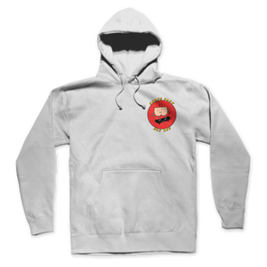 SKATE FAST EAT ASS HOODIE (White)