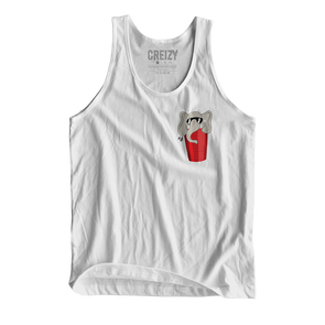 Red Solo Cup Elephant TANK TOP (White)
