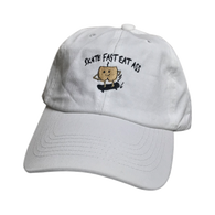 Skate Fast Eat Ass Dad Hat (White)