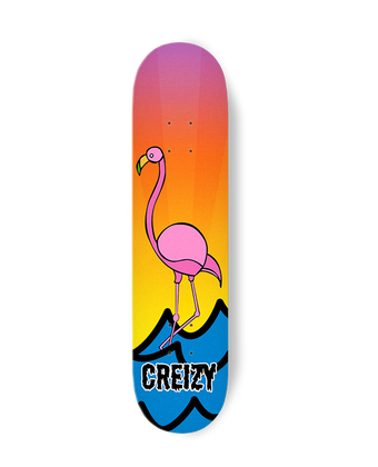 SUNSET FLAMINGO SKATEBOARD DECK