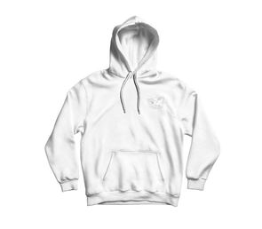 Slime Face *WHITE* EMBROIDERED HOODIE (White)