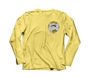 Checkerboard Elephant LONG SLEEVE (Yellow)