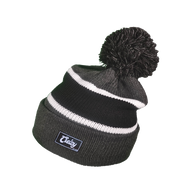 Pom Pom BEANIE (Dark Gray/Black)