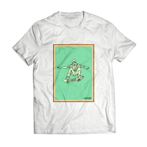 Gotcha Skater Portrait SHORT SLEEVE (White)