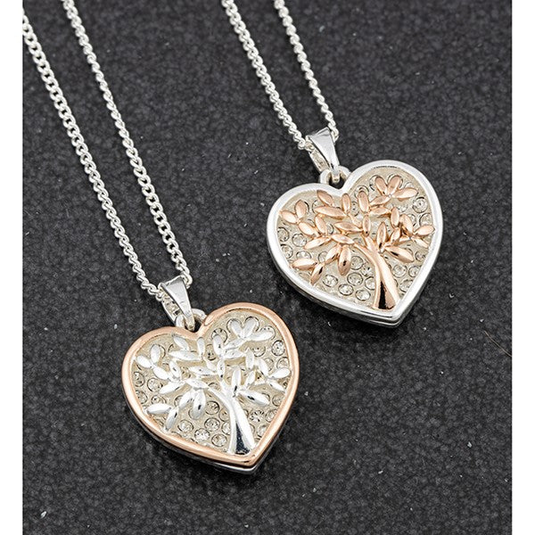 Tree of Life Two Tone Sparkle Necklace (S)
