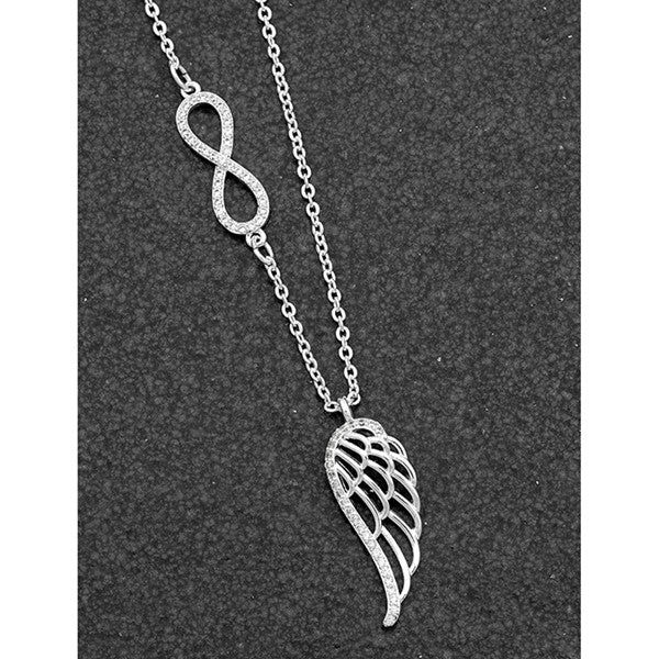 Guardian Angel Silver Plated Eternity Necklace