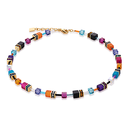 Geo Cube Necklace multicolour couture