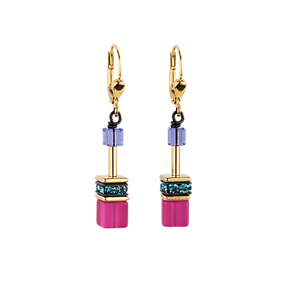 Geo Cube Earrings multicolour couture