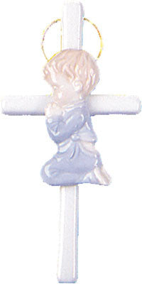 Ceramic Baby Boy Cross