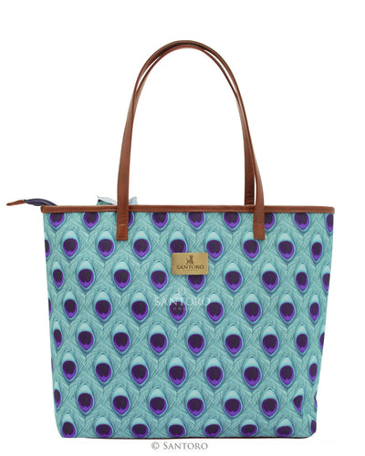 Mirabelle Large Shopper Bag with Zipper - Miss Peacock