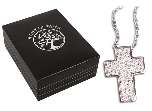 Sterling Silv Chain/Gift Boxed (69161)er Cross