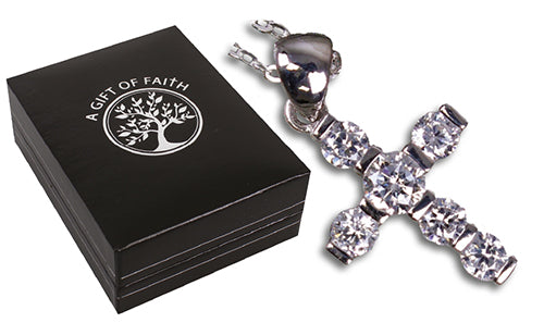 Sterling Silver Cross & Chain/Gift Boxed