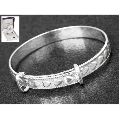 Silver Plated Christening Bangle