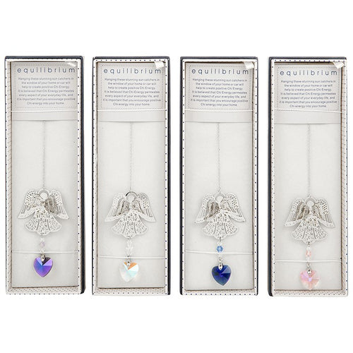 3D Angel Suncatcher Blue