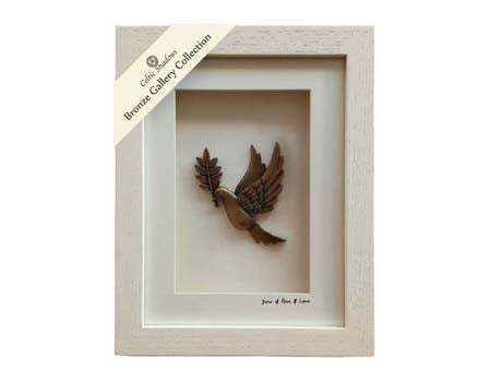 Cream Framed Dove of Peace & Love
