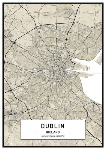 Dublin Map Print| Map Gift | Map Wall Art | Map Art | Map Poster | Map Artwork