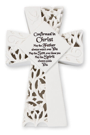 Resin Confirmation Cross With Light