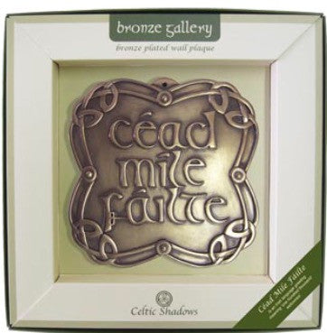 Celtic Shadows Cead Mile Failte Plaque