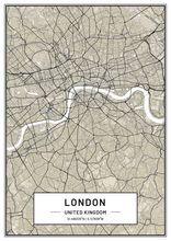 London Map print| Map Gift | map Wall Art | Map Poster | Map Artwork