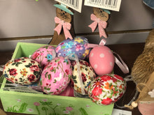 Six assorted Easter balls