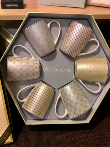 Belleek Living Set Of 6 Mugs