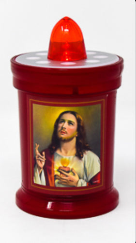 Battery Grave Light Candle - Sacred Heart of Jesus.