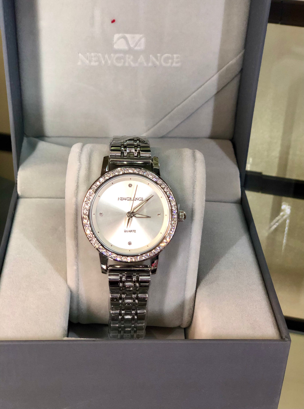 NewGrange Silver Diamond Bezel ladies watch