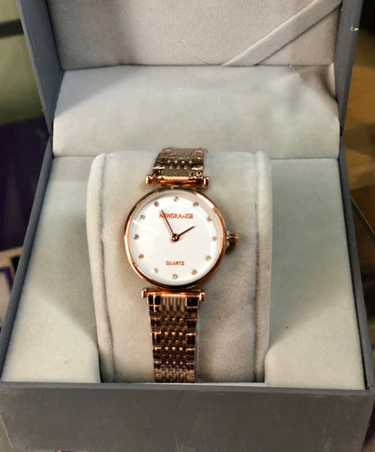 Newgrange Rose Gold Diamond Numeral Watch