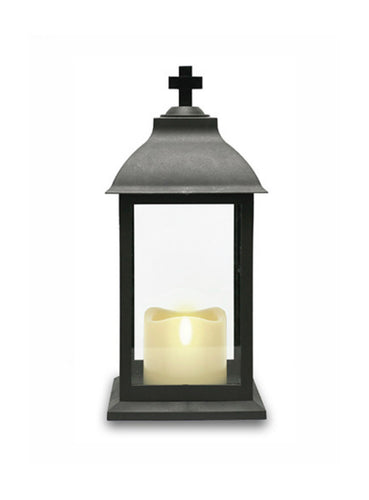 Grave Lantern with LED Candle