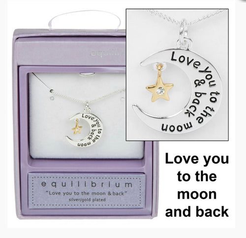 Love you to the moon and back star necklace